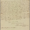 Letter to Benjamin Walker, New York