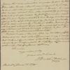Letter to Benjamin Walker, New York