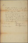 Letter to J[ames?] Nicholson [New York?]