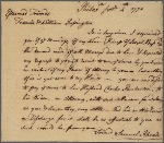 Letter to Francis and William Rossington