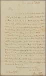 Letter to Colonel Thomas Duffs, Newport, New Castle Co
