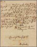 Letter to Daniel of St. Thomas Jenifer [Annapolis]