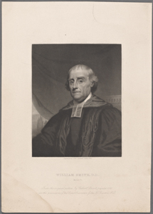 William Smith, D.D. Aetat. 75. From the original picture by Gilbert Stuart, painted, 1800, in the possession of his great grandson John H. Brinton, M.D. / engraved by John Sartain, Phila. 1880.