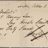 Autograph check signed to Brooks, Son and Dixon, 2 October 1817
