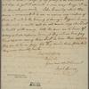 Letter to [Samuel Johnston, Edenton. N. C.]