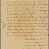 Letter to Joseph Reed, President of Pennsylvania