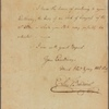 Letter to William Paca, Governor of Maryland, Annapolis