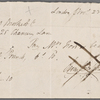 Autograph check signed to Brooks, Son and Dixon, 23 November 1817