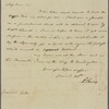 Letter to Horatio Gates [New York?]