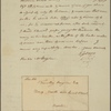 Letter to Timothy Bigelow, No. 9, North-side, Court Street, Boston