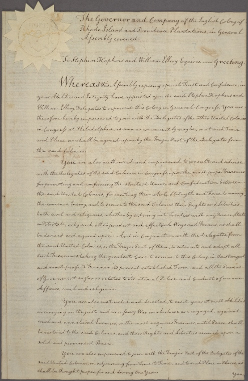 This is What United States. Declaration of Independence Looked Like  on 5/4/1776