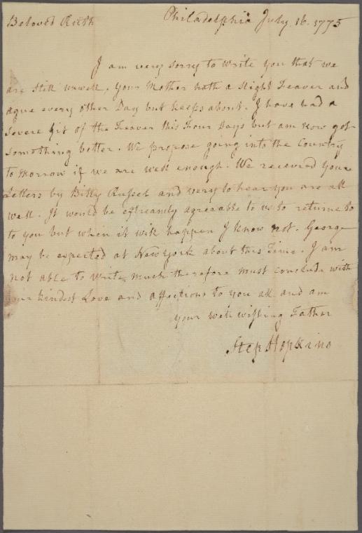 on 7/16/1775