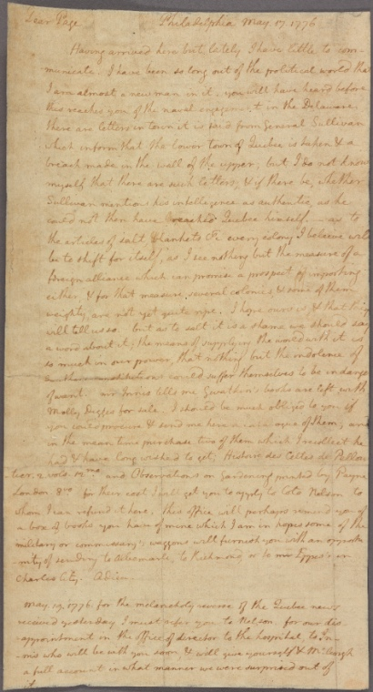 Fascinating Historical Picture of United States. Declaration of Independence on 5/17/1776