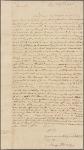 Letter to Robert Morris, Philadelphia