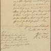 Letter to Robert Hunter Morris