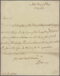 Letter to Sir George Yonge [Secretary at war]