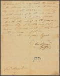 Letter to Jos. Sharpe