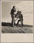Pare Lorentz and Paul Ivano making Resettlement film near Bakersfield, Calif. 1935
