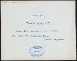 """ANNUAL MEETING & DINNER [held by] CHICKATAWBUT CLUB [at] """"YOUNG'S HOTEL, BOSTON, MA"""" (HOT;)"""