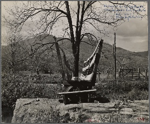 Bridge at foot of Old Ragged Mt. Shenandoah National Park, Va. 1935.