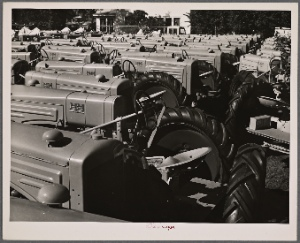 Tractors at tractor factory. Minneapolis, Minnesota.