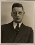 Portrait of an unidentified man with glasses