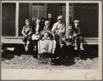 Farmhouse and family of resettlement client. Waldo County, Maine.