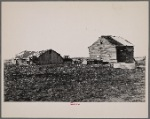 Hay house and corn crib on C.V. Hibbs' 80 acre farm near Boswell, Benton County, Indiana. This farm is owner operated but very heavily mortgaged