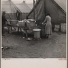 Disposal of garbage and dirty dishes. Tent City, near Shawneetown, Illinois.