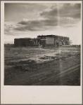 Adobe school house. Bosque Farms Project, New Mexico. 1935