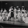 Bonnie Scott, Claudette Sutherland [center] and ensemble in the stage production How To Succeed in Business