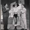 Rudy Vallee, Virginia Martin and Robert Morse in the stage production How to Succeed in Business