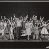 Charles Nelson Reilly, Claudette Scott and ensemble in the stage production How to Succeed in Business