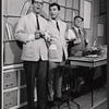 Ralph Purdum, Darryl Hickman and unidentified in the stage production How to Succeed in Businessl