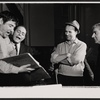 Buddy Hackett, Stan Freeman, Richard Kiley and Jerome Chodorov in rehearsal for the stage production I Had a Ball
