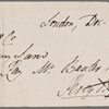 Autograph check signed to Brooks, Son and Dixon, 18 December 1817