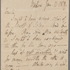 Autograph letter signed to Charles Ollier, 11 January 1818