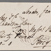 Autograph check signed to Brooks, Son and Dixon, 16 January 1818