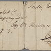 Autograph check signed to Brooks, Son and Dixon, 10 February 1818