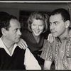Eli Wallach, Anne Jackson and Alan Arkin in rehearsal for the Broadway production of Luv