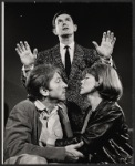 Gabriel Dell, Larry Blyden [standing] and Anne Jackson in the Broadway production of Luv