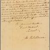 Letter to Robert Monckton