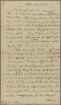 Letter to Ephraim Williams [Stockbridge, Mass.]