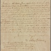 Letter to Caleb, Nathaniel, and William Green, executors of the estate of Richard Green