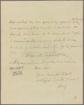 Letter to Sir Francis Freeling
