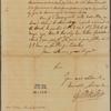 Letter to George Thomas [Philadelphia]