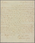 Letter to For his daughter, Catherine [Mrs. Stephen] Van Rensselaer