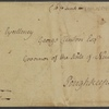 Letter to George Clinton, Gov. of New York, Poughkeepsie