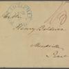 Letter to Henry Baldwin, Meadville, Penn.