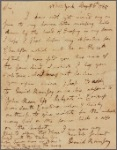 Letter to [Thomas?] Harwood, Receiver of continental taxes, in Maryland